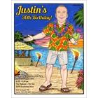 Hawaiian Shirt Guy Invitation, Add Your Face