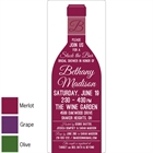 Wine Theme Shower Invitation