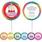 Birthday Paint Party Theme Lollipop
