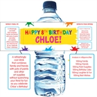Kids Birthday Paint Party Water Bottle Label