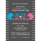 Football Theme Gender Reveal Party Invitation