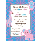 Jungle Theme Gender Reveal Party Invitation