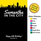 Pick Your Skyline Theme Party Sign in Board