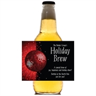 Holiday Party Theme Beer Bottle Label