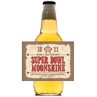 Western Theme Super Bowl Beer Bottle Label