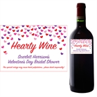 Heart Confetti Wine Champagne Bottle Label