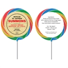 Graduation Law School Subpoena Theme Lollipop