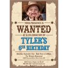 Kids Wanted Poster Invitation