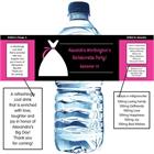 Bridal Dress Water Bottle Label