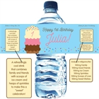 Ice Cream Party Theme Water Bottle Label