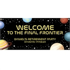Final Frontier Retirement Party Banner