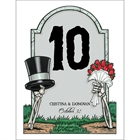Halloween Tombstone Wedding Table Number