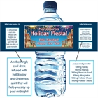 New Years Fiesta Water Bottle Label