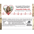Nursing and Medical School Graduation EKG Candy Bar Wrapper