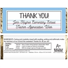 Teacher Appreciation Theme Candy Bar Wrapper