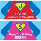 Superhero Theme Party Banner