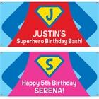 Superhero Theme Party Banner