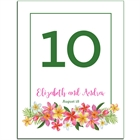 Tropical Flower Table Number