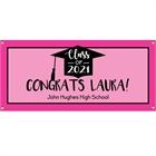 Graduation Cap Pink Theme Banner