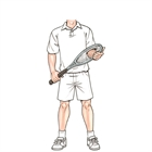Tennis Male Cutout