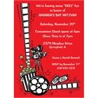 Hollywood Film Reel Party Invitation