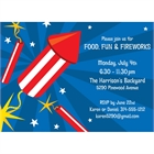 Fireworks Party Invitation
