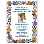 Sports Balls Photo Invitation