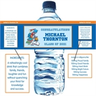 Graduation Sports Theme Water Bottle Label