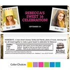 Sweet 16 Polaroid Photo Theme Candy Bar Wrapper