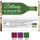 Wine Theme Candy Bar Wrapper