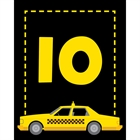 New York Taxis Theme Table Number