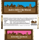 Jerusalem Skyline Candy Bar Wrapper