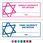 Simple Star of David Seating Card