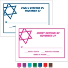 Simple Star of David Theme Response Cards
