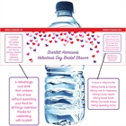 Heart Confetti Water Bottle Label