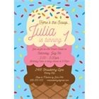 Ice Cream Theme Party Invitation