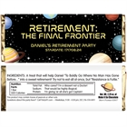 Final Frontier Retirement Party Candy Bar Wrapper