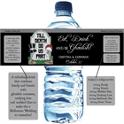Halloween Tombstone Wedding Water Bottle Label