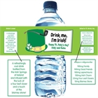 St. Patrick's Day Derby Theme Water Bottle Label
