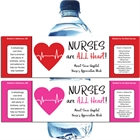 Nursing Appreciation Custom Water Bottle Label