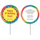 Circus Theme Custom Lollipop