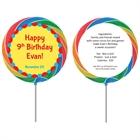 Circus Theme Custom Lollipop