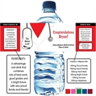 Graduation Doctor's Coat Theme Water Bottle Label