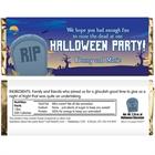 Halloween Graveyard Theme Candy Bar Wrapper