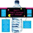 80s Water Bottle Label