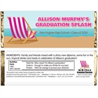 Graduation Beach Bash Theme Candy Bar Wrapper