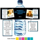 Birthday Polaroid Photo Theme Water Bottle Label