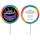 Birthday Swirl Custom Lollipop