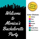 Pick Your Skyline Bachelorette Party Welcome Sign