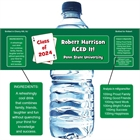 Graduation Casino Theme Water Bottle Label